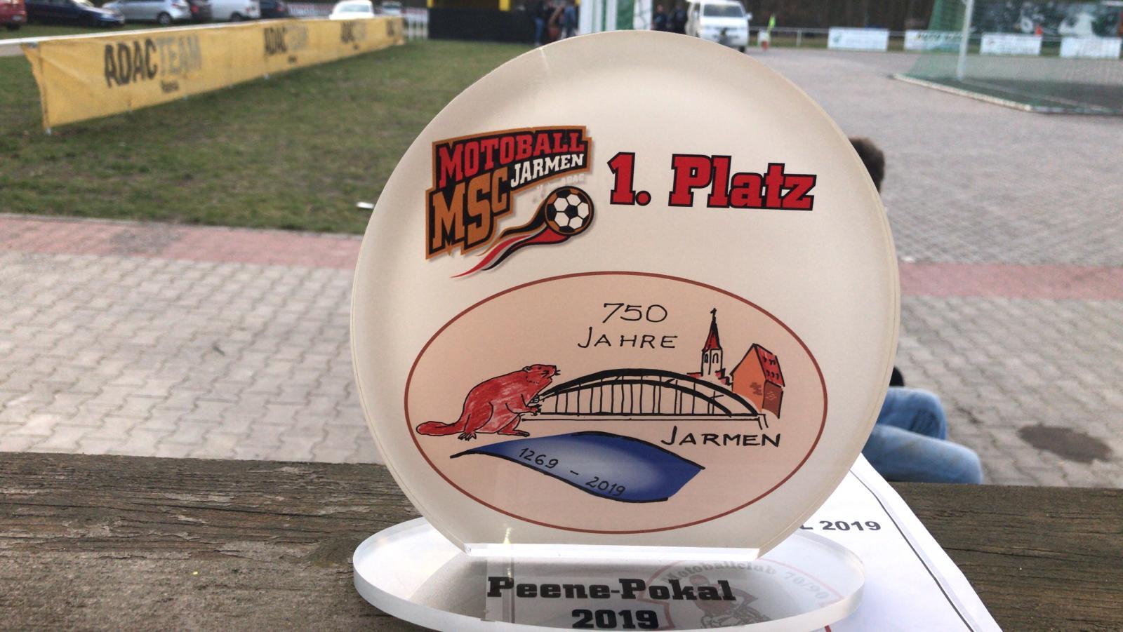 Der Peene-Saale Pokal 2019 geht an die Saale